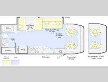 Floorplan - 2012 Winnebago View 24M