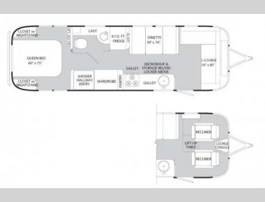 Floorplan - 2012 Airstream RV International Serenity 30
