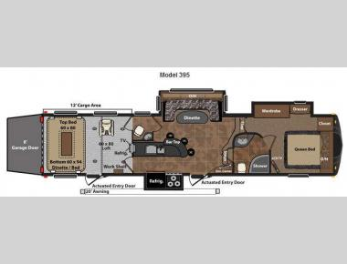 Floorplan - 2012 Keystone RV Fuzion 395