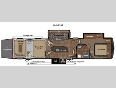 Floorplan - 2012 Keystone RV Fuzion 399