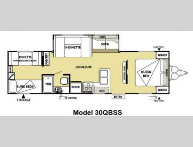 Floorplan - 2013 Forest River RV Salem 30QBSS