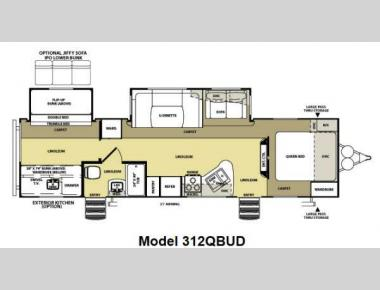 Floorplan - 2013 Forest River RV Salem Hemisphere Lite 312QBUD