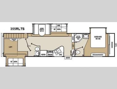 Floorplan - 2013 Coachmen RV Chaparral 355RLTS