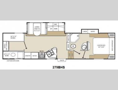 Floorplan - 2013 Coachmen RV Chaparral Lite 279BHS