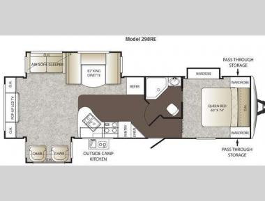 Floorplan - 2013 Keystone RV Outback 298RE