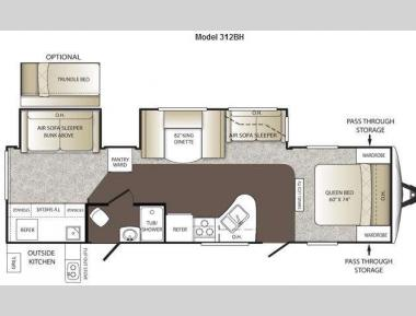 Floorplan - 2013 Keystone RV Outback 312BH