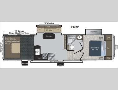Floorplan - 2013 Keystone RV Raptor 297SE