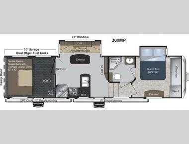 Floorplan - 2013 Keystone RV Raptor 300MP
