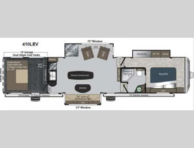 Floorplan - 2013 Keystone RV Raptor 410LEV