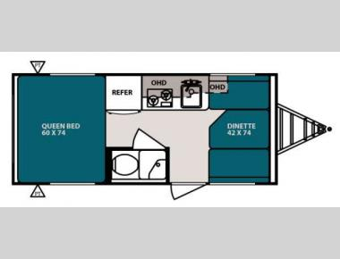 Floorplan - 2013 Forest River RV R Pod RP 171