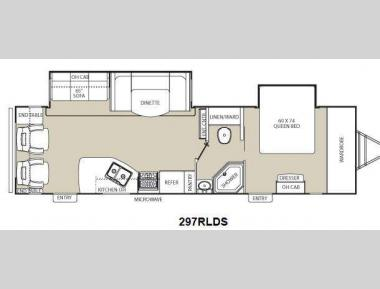 Floorplan - 2013 Coachmen RV Freedom Express 297RLDS