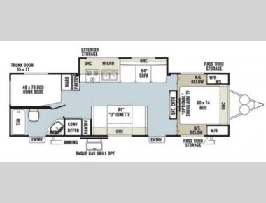 Floorplan - 2013 Forest River RV Rockwood Ultra Lite 2702SS