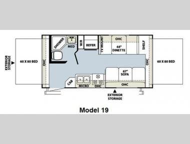 Floorplan - 2013 Forest River RV Rockwood Roo 19