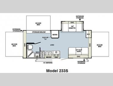 Floorplan - 2013 Forest River RV Rockwood Roo 233S