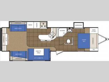 Floorplan - 2013 Prime Time Manufacturing LaCrosse 322RES
