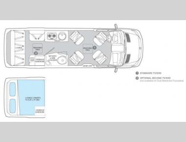 Floorplan - 2013 Airstream RV Interstate Interstate Lounge