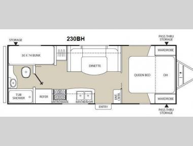 Floorplan - 2013 Coachmen RV Freedom Express LTZ 230BH