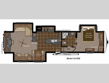 Floorplan - 2013 Keystone RV Montana Big Sky 3625 RE