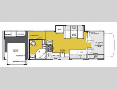 Floorplan - 2013 Forest River RV Sunseeker 3120DS Ford