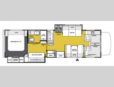 Floorplan - 2013 Forest River RV Sunseeker 3170DS Ford