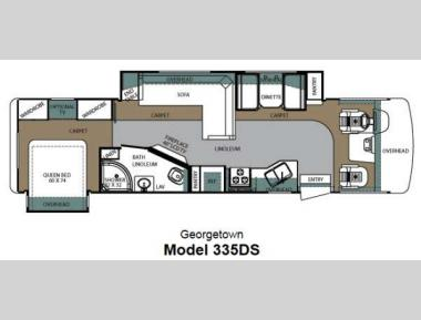 Floorplan - 2013 Forest River RV Georgetown 335DSF