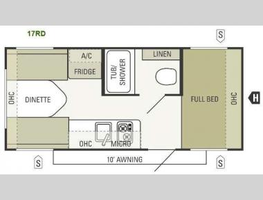 Floorplan - 2013 Starcraft  AR-ONE 17RD
