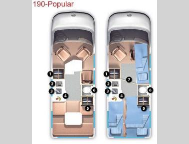 Floorplan - 2013 Roadtrek 190-Popular