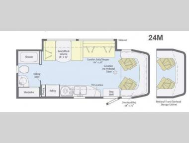 Floorplan - 2013 Winnebago View 24M