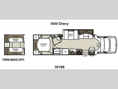 Floorplan - 2013 Coachmen RV Concord 301SS Chevy
