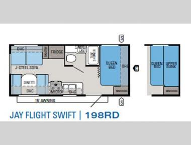 Floorplan - 2013 Jayco Jay Flight Swift 198RD