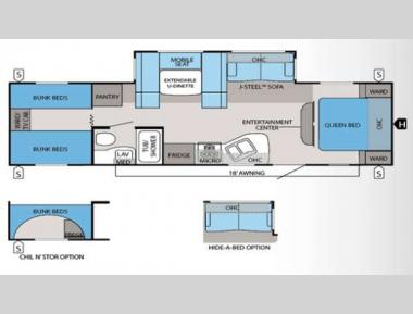 Floorplan - 2013 Jayco Jay Flight 29QBH