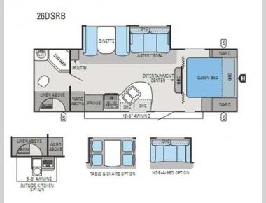 Floorplan - 2013 Jayco White Hawk 26DSRB