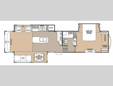 Floorplan - 2013 Forest River RV Cedar Creek 36RE