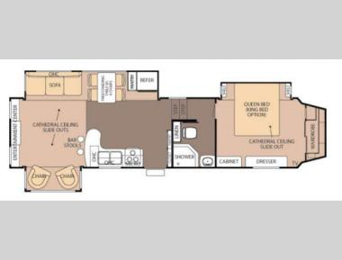 Floorplan - 2013 Forest River RV Cedar Creek Silverback 33RL