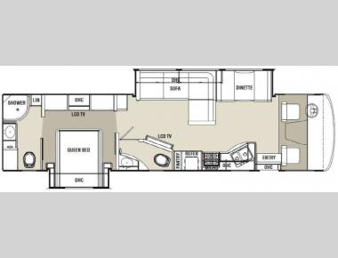 Floorplan - 2013 Coachmen RV Mirada 35DL