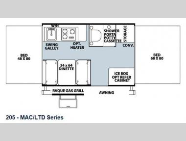 Floorplan - 2013 Forest River RV Flagstaff MAC LTD Series 205