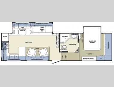 Floorplan - 2007 Forest River RV Cardinal LE 30RK
