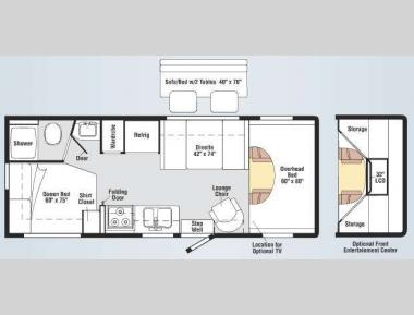 Floorplan - 2011 Winnebago Chalet 24V
