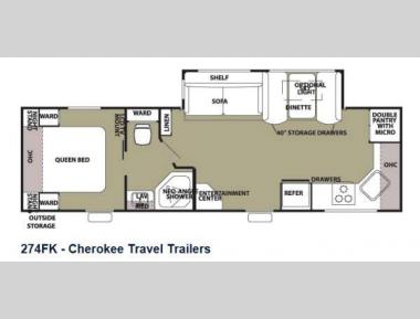 Floorplan - 2013 Forest River RV Cherokee 274FK