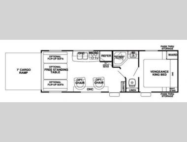 Floorplan - 2013 Forest River RV Cherokee Vengeance 25V Super Sport