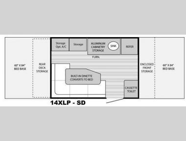 Floorplan - 2013 Livin Lite Quicksilver XLP 14XLP SD