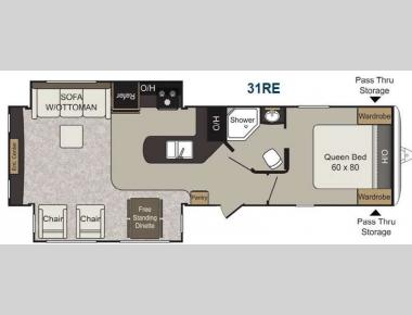 Floorplan - 2013 Keystone RV Passport 31RE Elite