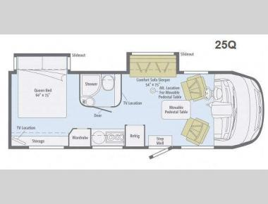 Floorplan - 2014 Winnebago Via 25Q