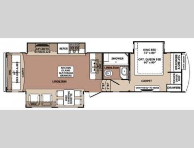 Floorplan - 2014 Forest River RV Blue Ridge 3025RL