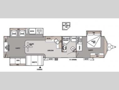 Floorplan - 2014 Forest River RV Wildwood Lodge 400RETS DLX