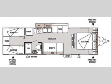 Floorplan - 2014 Forest River RV Wildwood X-Lite 281QBXL