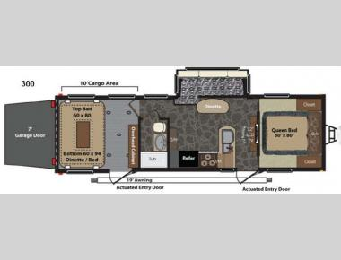 Floorplan - 2014 Keystone RV Fuzion 300