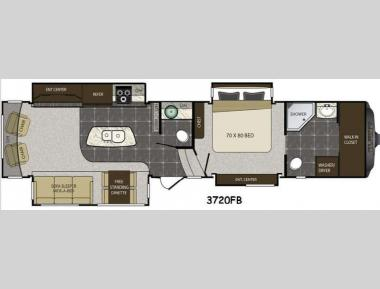Floorplan - 2014 Keystone RV Alpine 3720FB