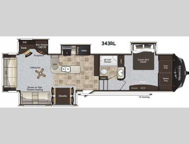 Floorplan - 2014 Keystone RV Montana High Country 343RL