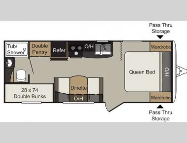 Floorplan - 2014 Keystone RV Passport 238ML Express